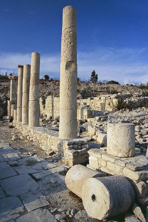 Remains of the Temple of Apollo, Amathus Archaeological Site, Near Limassol, Cyprus