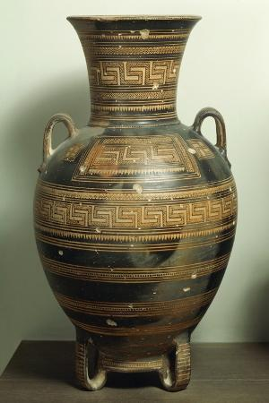 Greek Civilization, Geometric Attic Amphora, Ceramics