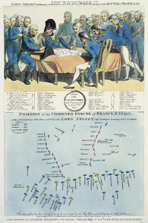 Nelson Discussing the Battle Plan for Trafalgar.