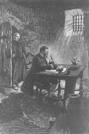 Italy, Rome of Alessandro Cagliostro in Prison, Condemned by Court of the Inquisition