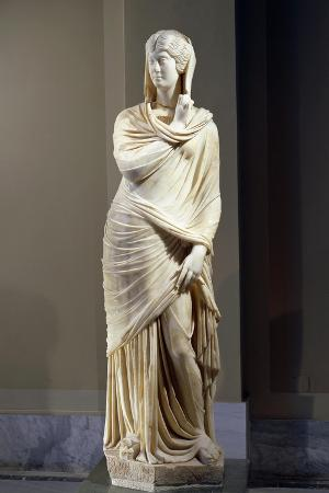Marble Statue of Cornelia Antonia from Antioch, Turkey
