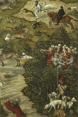 Austria, Vienna, the Stag Hunt of Prince John Frederick Detail