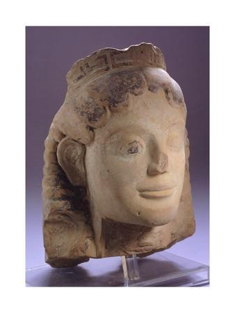 Head of Sphinx in Corinthian Style, Perhaps Acroterion, from Illyria, Albania