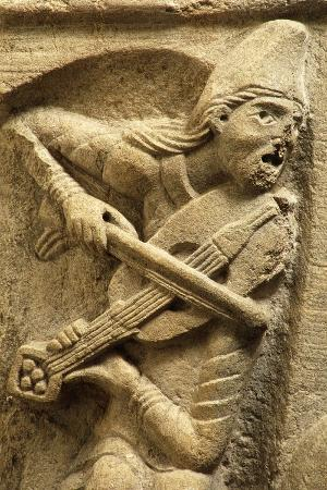 A Musician, from the Sculptural Decoration of a House in the 12th Century in Cluny, France