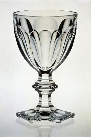 Water Glass, Harcourt Service in Blown Crystal Glass and Engraved, 1841, France