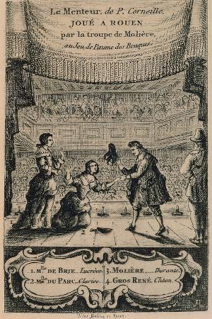 Poster for the Liar by Pierre Corneille, 1648