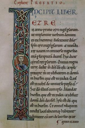Illuminated Letter, the Latin Bible, from the Abbey of Monteiramey, Manuscript