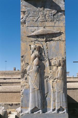 Iran, Persepolis, Council Hall 'Tripylon', Relief of King Darius