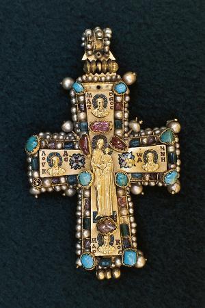 Pectoral Cross in Gold, Enamel and Precious Stones. Georgia, 8th-9th Century