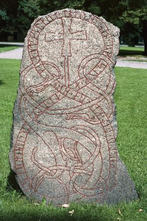 Rune Stone, Oland Island, Sweden, Viking Civilization, 11th Century