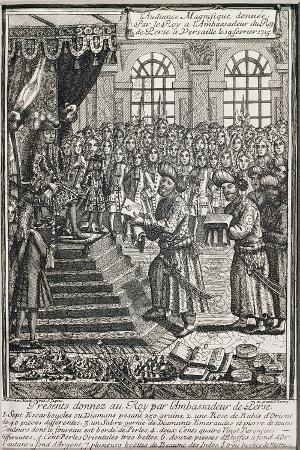 King of Persia's Ambassador Bringing Gifts to Louis XIV, King of France