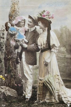 Child with Armand Marseille Doll, Postcard