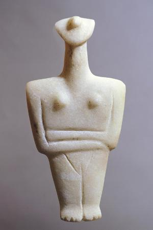 Idol in Marble from Island of Syros, Greece, Cycladic Civilization, 3500-1050 Bc