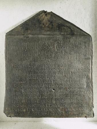 Bronze Plaque Containing Decurions' Decree Regarding Regulation of Weights and Measures