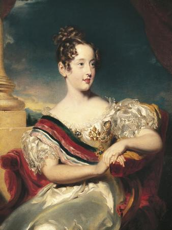 Portrait of Maria II of Portugal, Queen of Portugal