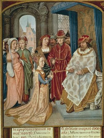 The Queen of Sheba before Solomon, Miniature from the Grimani Breviary, Manuscript, Italy