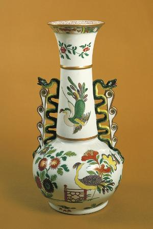 Vase, Ironstone, Spode Manufacture, Stoke-On-Trent, Staffordshire, England