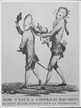 "Le Petit Maitre Pertant Pour La Promenade, Caricature of Hairdressing of So-Called ""Macaroni"""