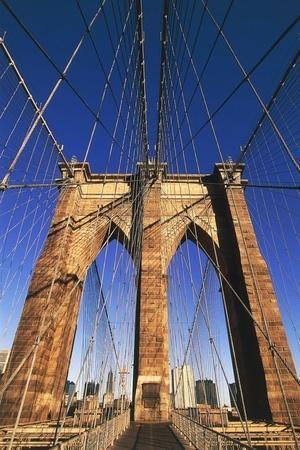 Brooklyn Bridge, New York, United States, Detail