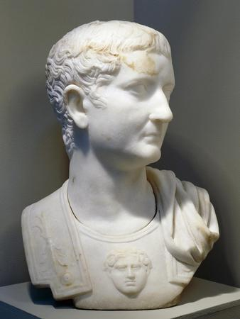 Marble Bust of Emperor Tiberius