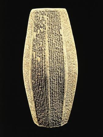 Biconical Prism Bearing Cuneiform Inscription Celebrating Sargon II, from Palace of Sargon