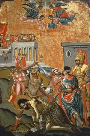 The Beheading of St. John the Baptist, Icon, Greece