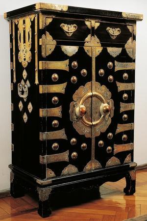 Cabinet Made of Wood and Brass, Korea, Korean Civilization