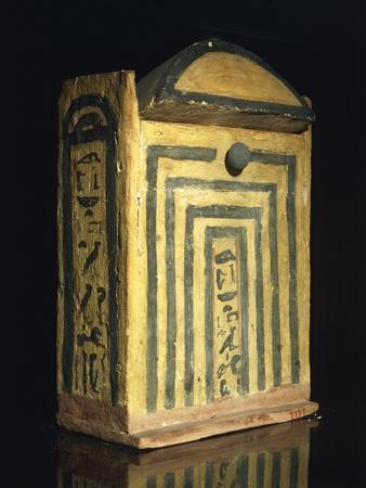 Painted Wooden Model of Temple of Goddess Neith at Sais