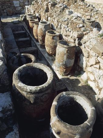 View of Store Rooms at Palace of Knossos, Crete, Greece, Minoan Civilization, 16th Century BC
