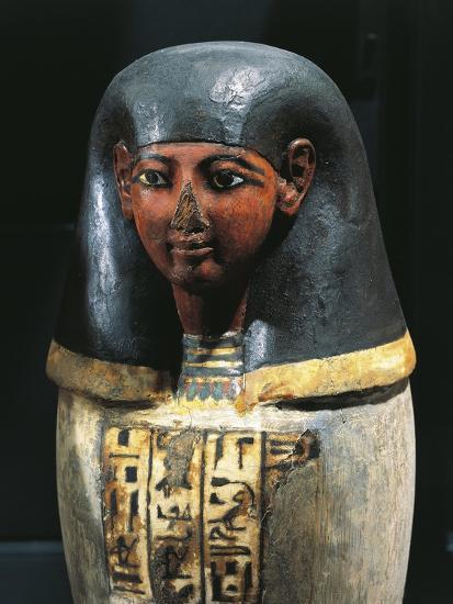 Canopic Vase Of Padiuf Priest Of Amon Amset With Human Head