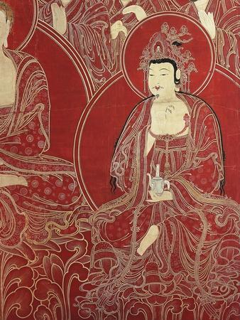 Deities, Detail from the Paradise of Amitabha Buddha, the Light Without Limits