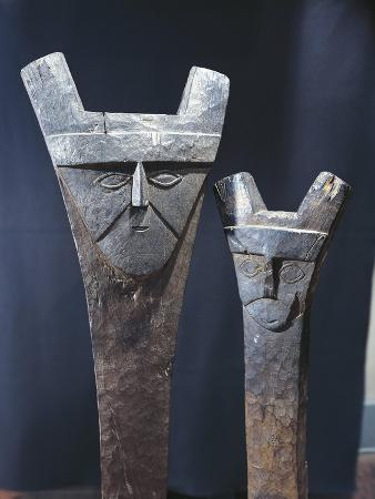Pre-Inca Wooden Idols, from Chincha Islands, Peru, 12th Century