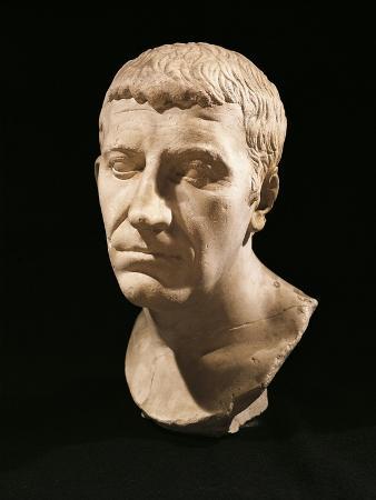 Marble Bust of Gnaeus Domitius Corbulo, General in Emperor Nero's Army