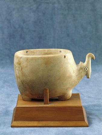 Limestone Antelope-Shaped Vase