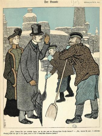 Caricature of Street Sweepers and Bourgeoisies, 1903