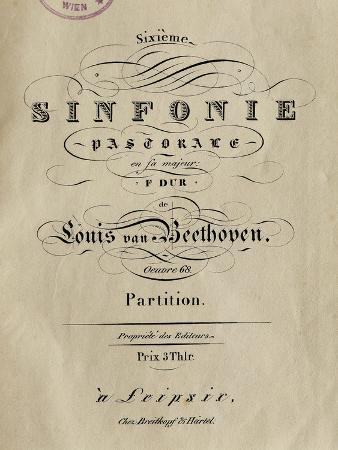 "Frontispiece of Symphony No. 6 in F Major, Op. 68, ""Pastoral"""