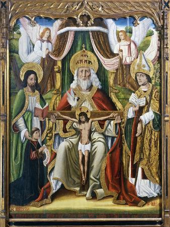 The Holy Trinity with St Andrew and St Basil