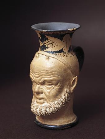 Etruscan Civilization, Vase with Silenus's Face