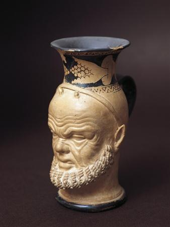 Etruscan Civilization, Vase with Silenus's Face