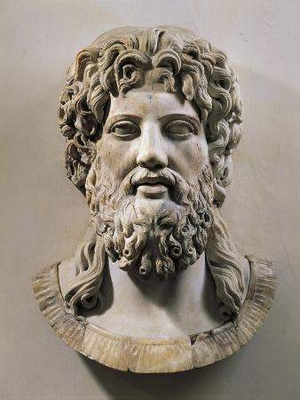 Marble Head of Asclepius or Zeus