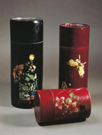 Lacquered Bamboo Tea Boxes, China