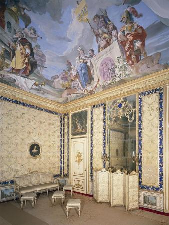 Italy, Piedmont Region, Stupinigi, Palazzina Di Caccia, Antechamber of Queen Apartments