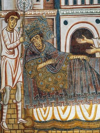 Constantine in Bed Stricken with Leprosy, Detail from Legend of Constantine and St Sylvester, 1246