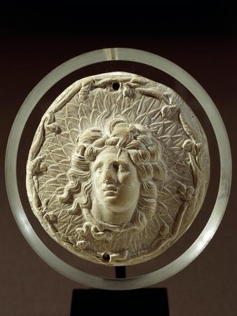 Alexander Great-Helios, Hellenistic Medallion in Terracotta BC