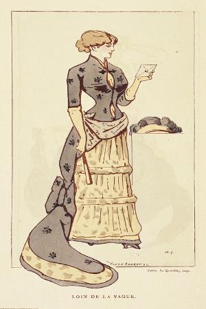 Women's Fashion Plate Designed by a Grevin, from L'Art De La Mode, 1881