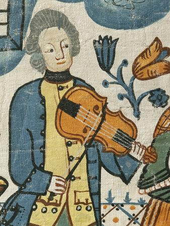 Violin Player, Detail from the Marriage of Canaan and Entry of Christ into Jerusalem