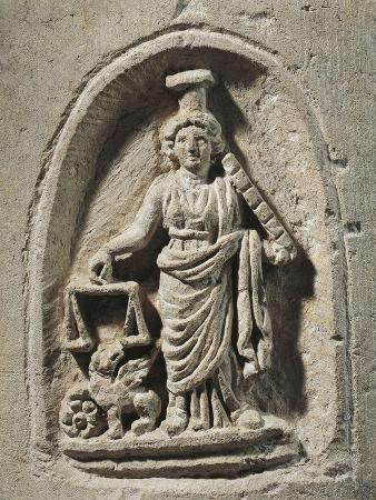 Relief Depicting Nemesis, Goddess of Justice and Revenge, from Lattaqie