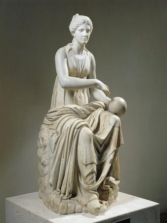 Marble Statue of Muse Urania
