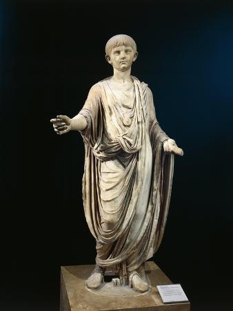 Statue of Nero as Child Wearing Bulla