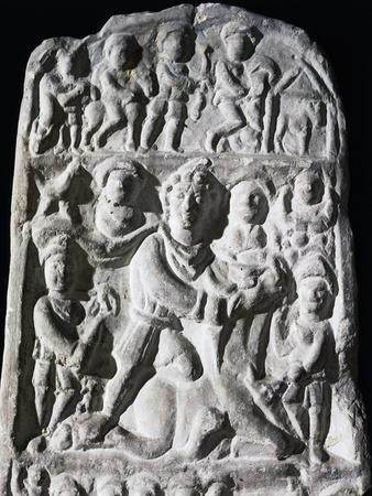 Relief Depicting Mithras Killing Bull, Overlooked by Sun, Moon and Two Other Characters